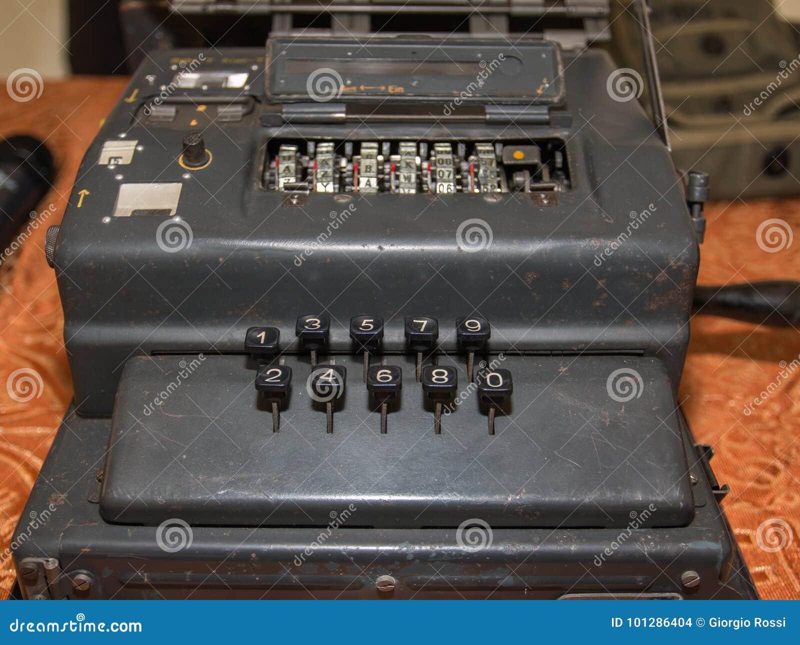 Enigma Cipher maszyna od drugiej wojny światowa