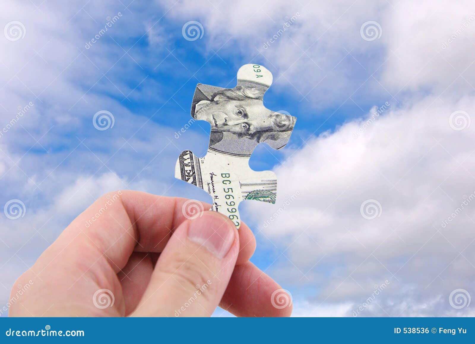 Enigma do dólar da preensão da mão
