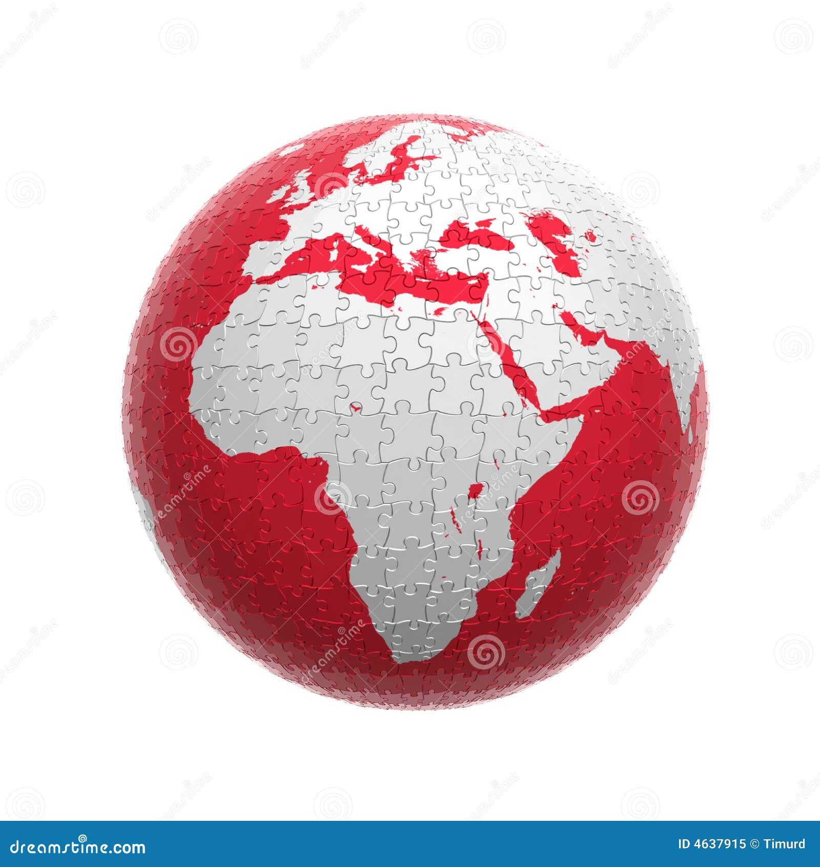 Enigma vermelho do globo