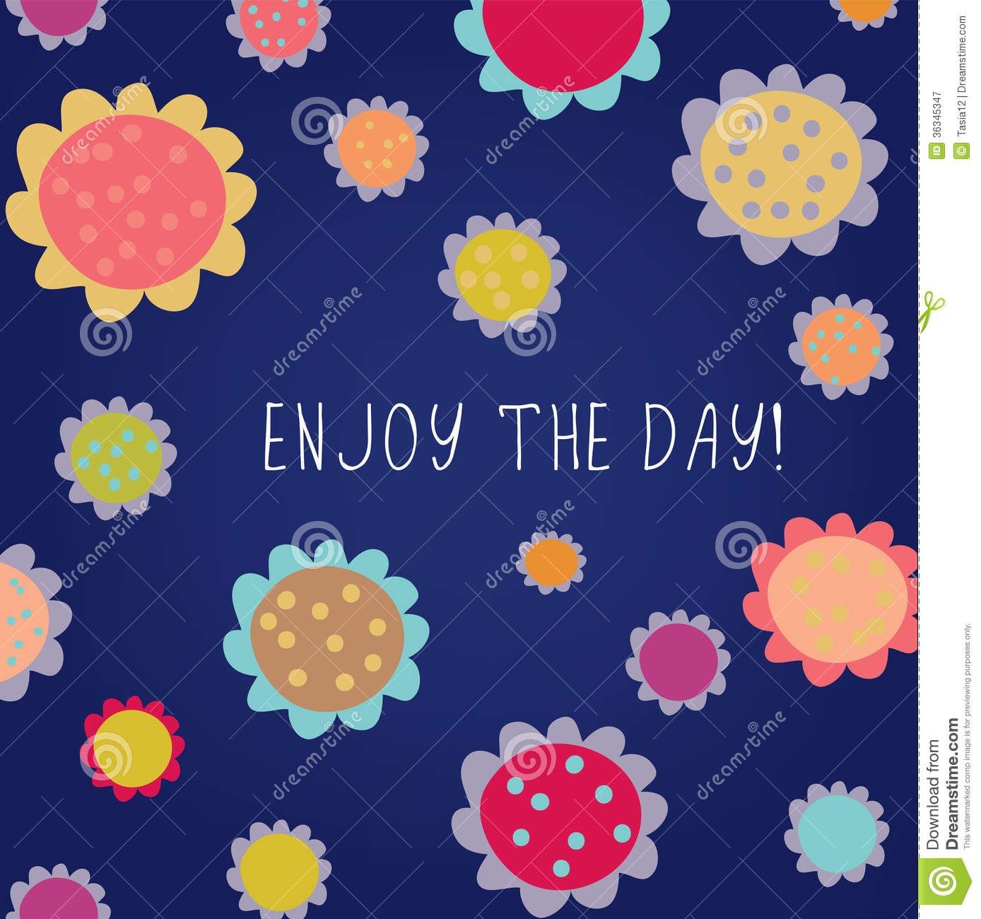 Enjoy the day greeting card stock vector illustration of child enjoy the day greeting card kristyandbryce Image collections