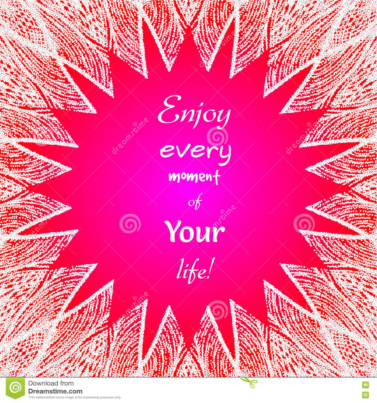 Enjoy Every Moment Of Your Life. Stock Vector - Illustration of font ...