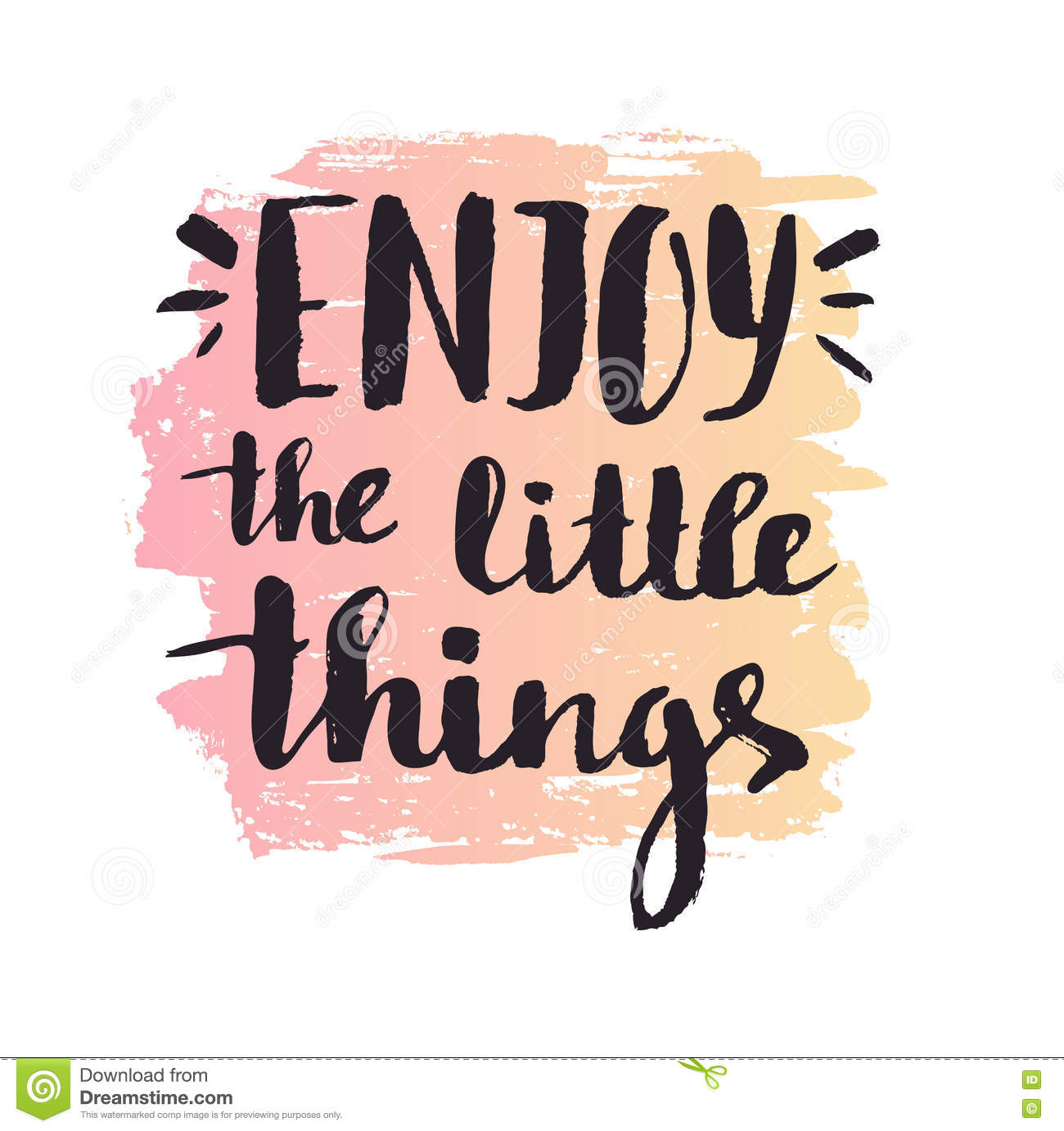enjoy the little things clipart