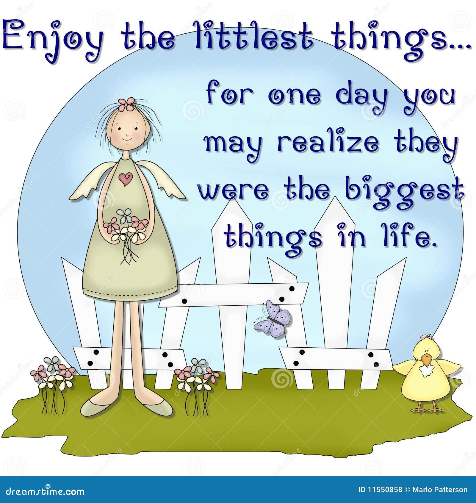 Enjoy The Littlest ThingsCountry Girl Scene Stock Illustration