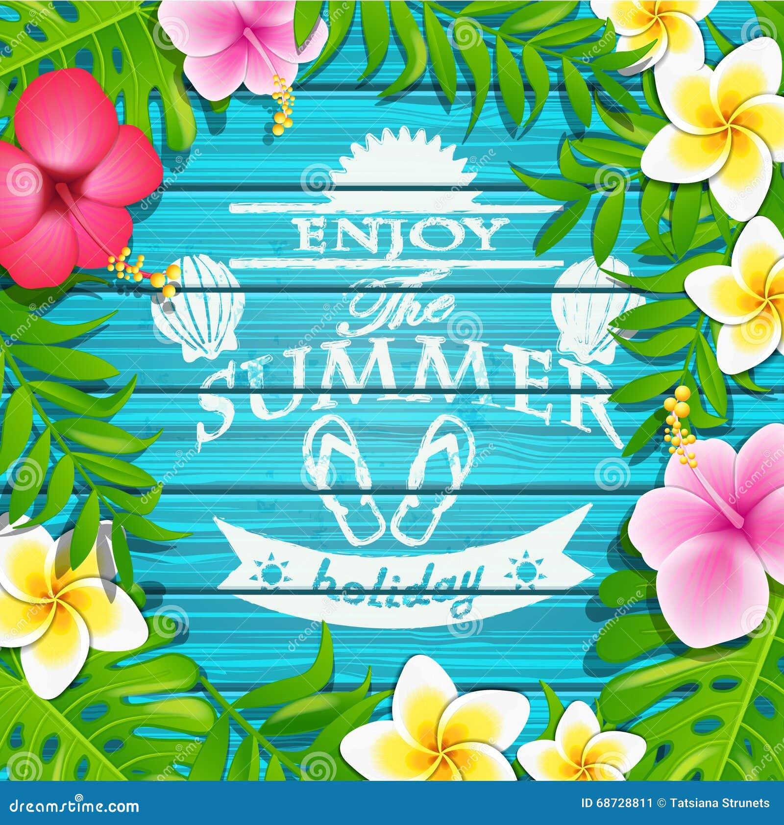 Couple Enjoying Their Summer Holidays Stock Photo: Enjoy The Summer Holiday. Stock Illustration. Illustration