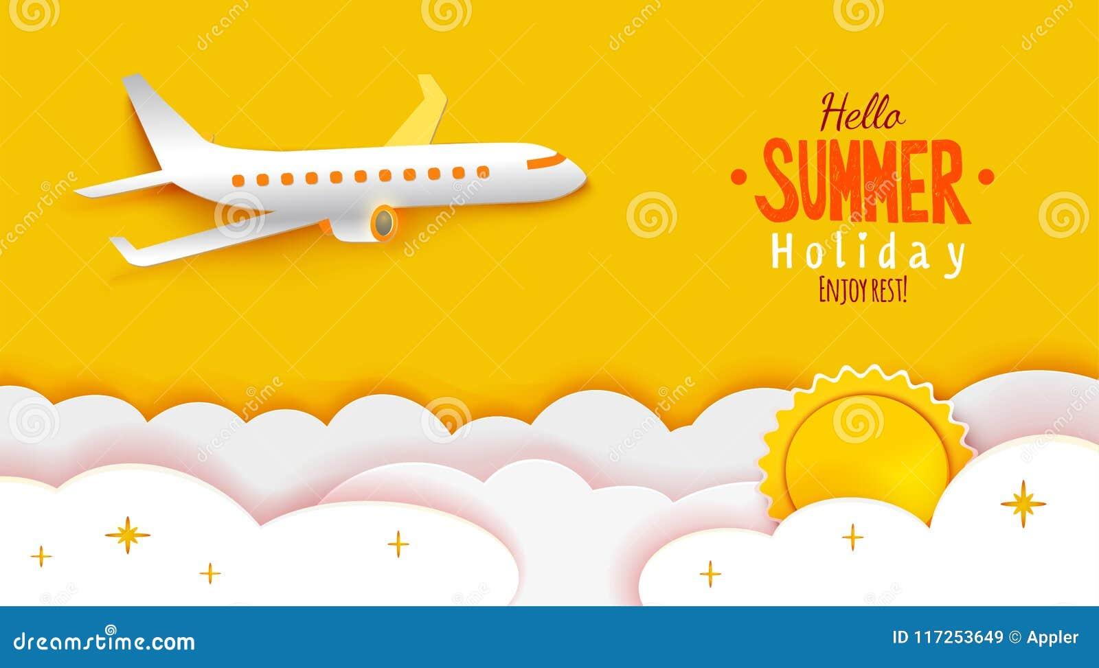 Enjoy summer holidays paper art stock vector illustration of flat download enjoy summer holidays paper art stock vector illustration of flat shadow 117253649 m4hsunfo