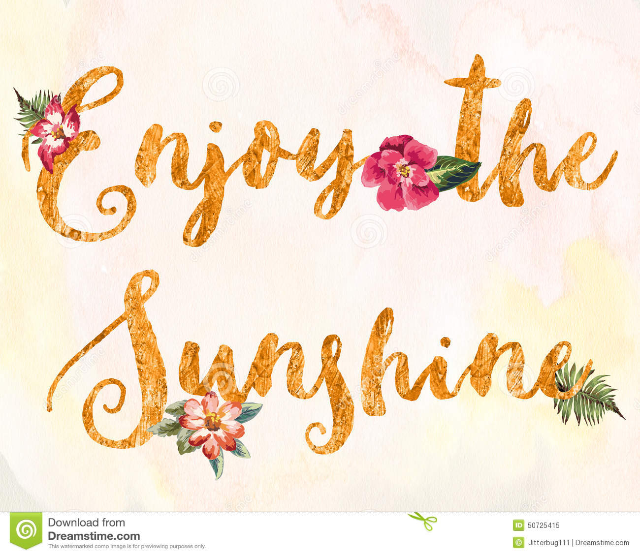 Enjoy The Sunshine Stock Illustration Image 50725415