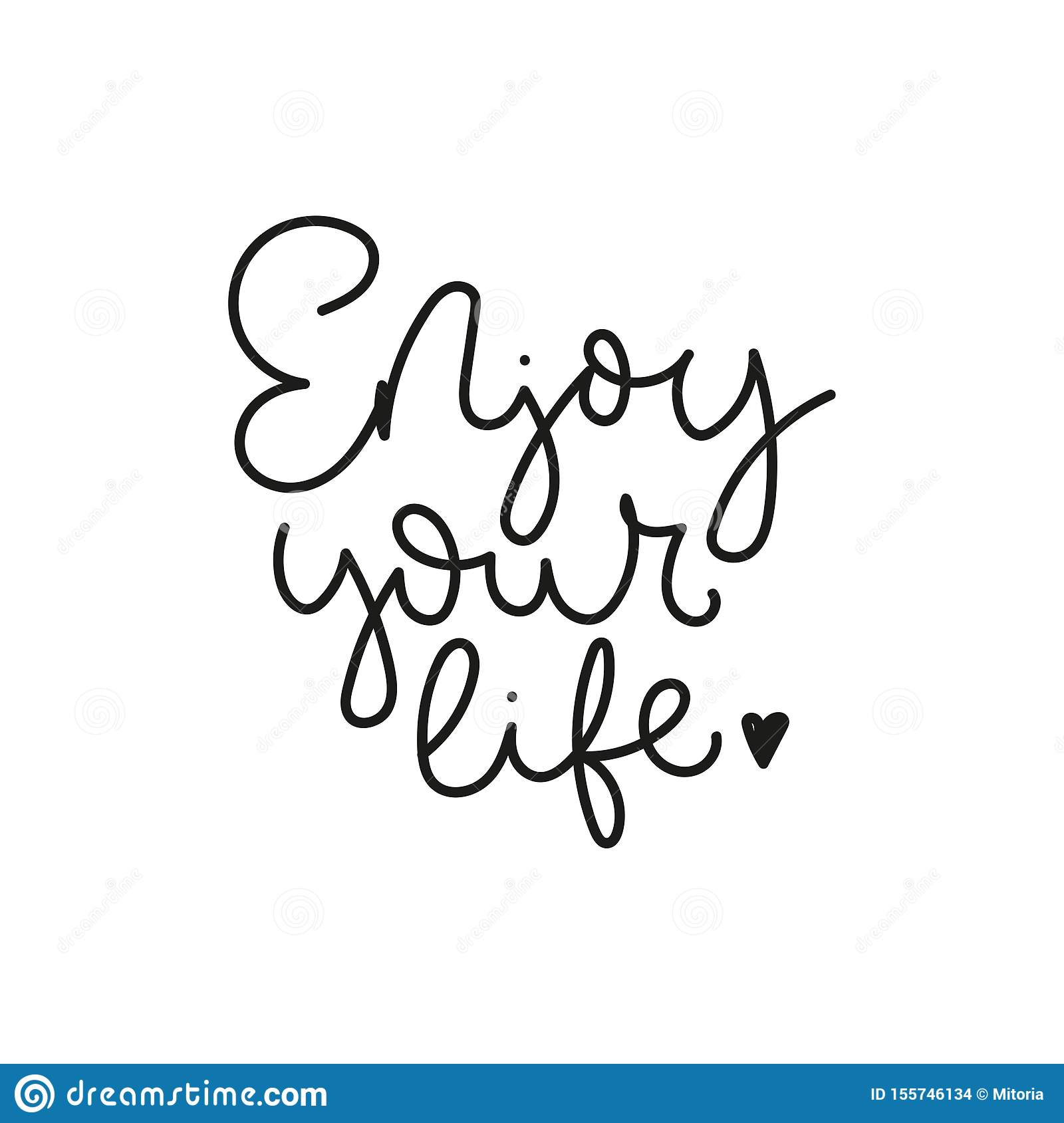 Enjoy Your Life Poster Or Card Stock Vector