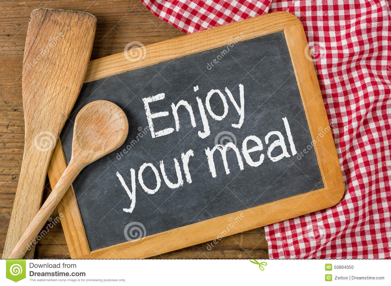 Enjoy Your Meal Stock Illustration Image 50894050