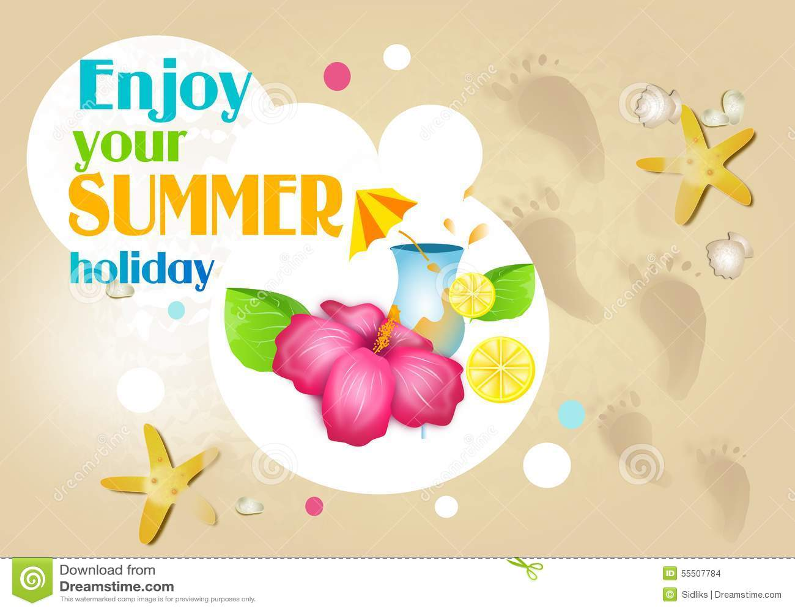Enjoy Your Summer Holiday Stock Illustration Illustration Of