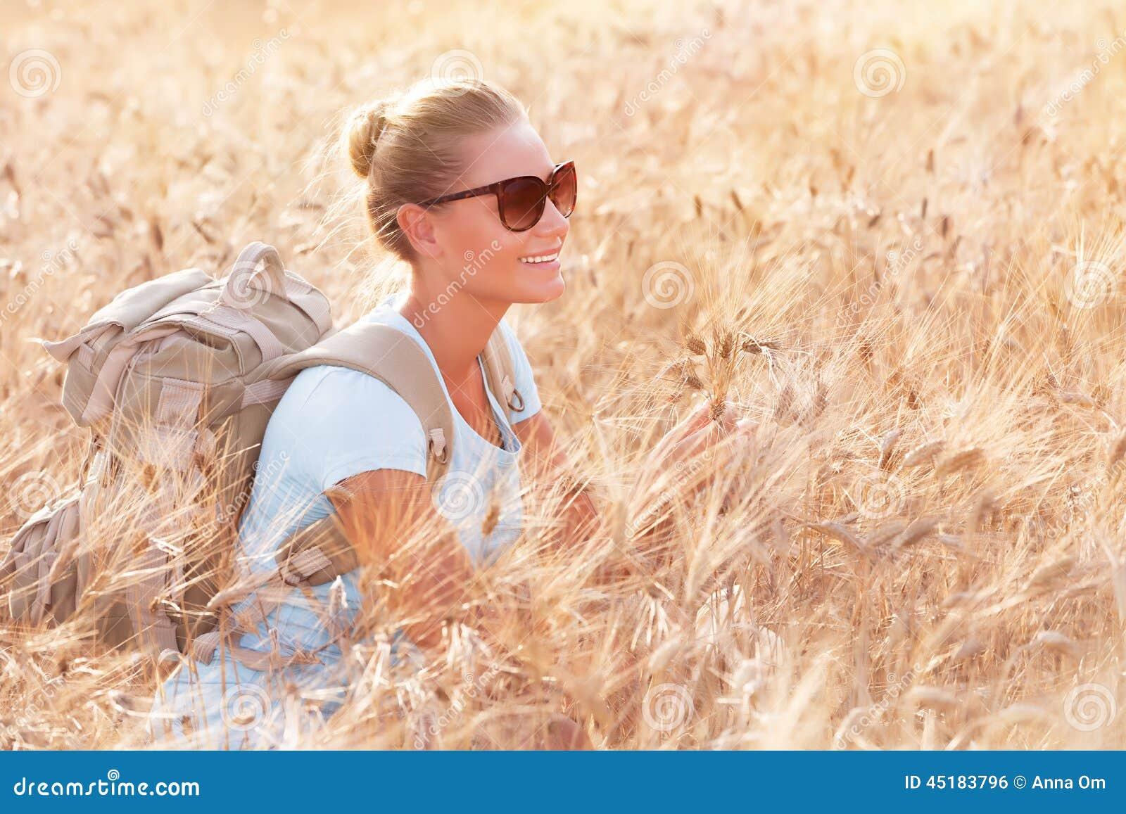 Enjoying autumn nature stock photo image 45183796 for Cheerful nature