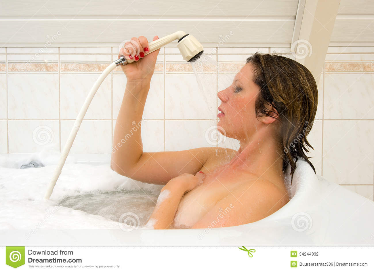 Enjoying a hot bath stock photo. Image of private, bathroom - 34244832