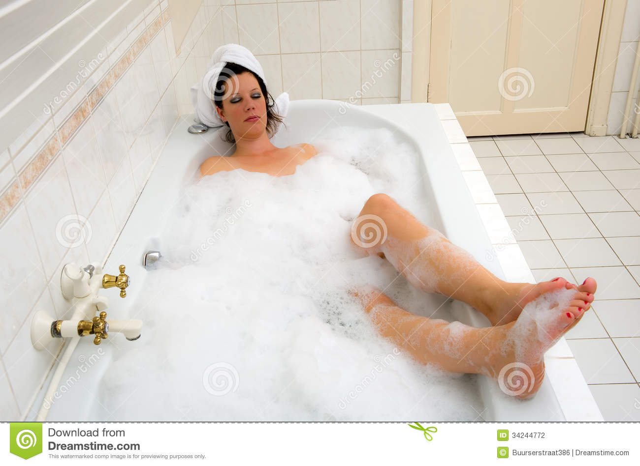 Enjoying a hot bath stock photography image 34244772 for Hot bathroom