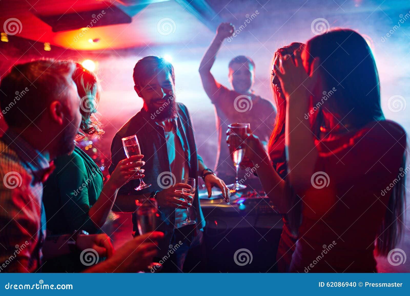 Enjoying night party