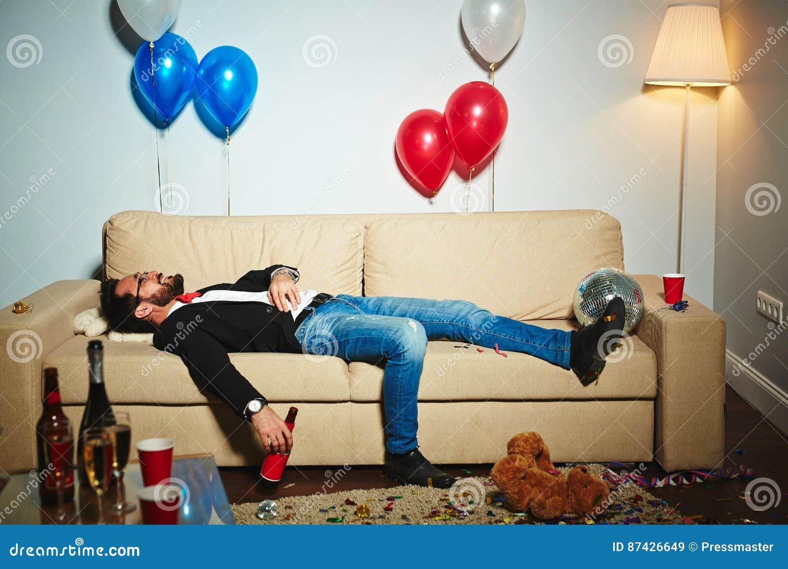 Enjoying Night After Wild Party Stock Image Image Of