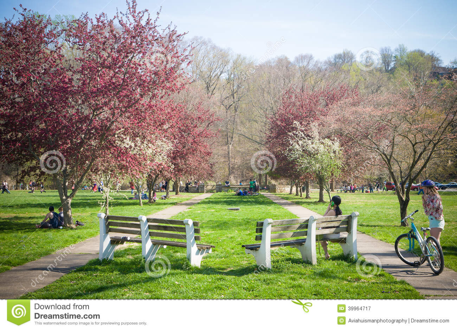 Enjoying Spring Activities At The Park Editorial