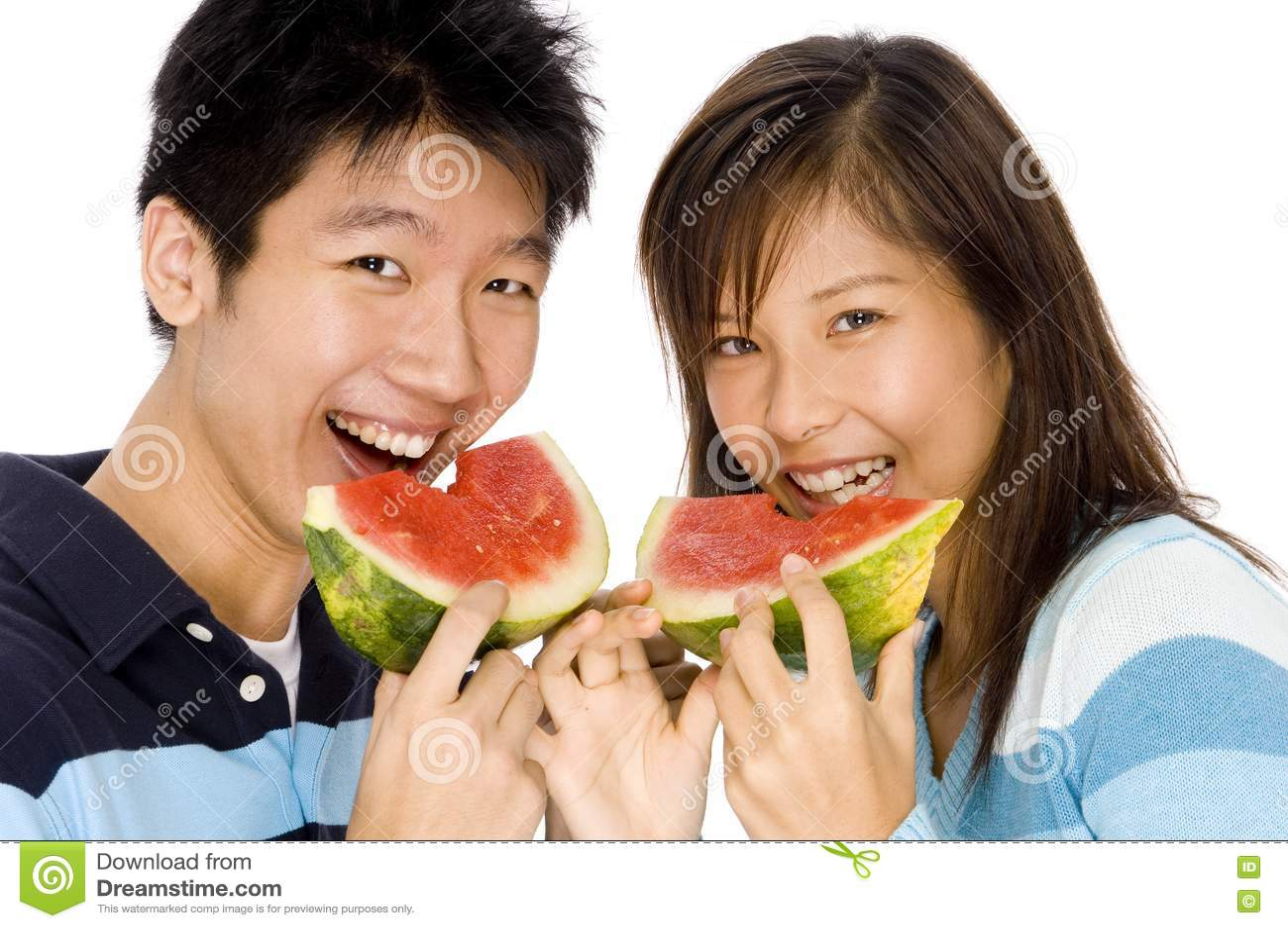 Enjoying Watermelon