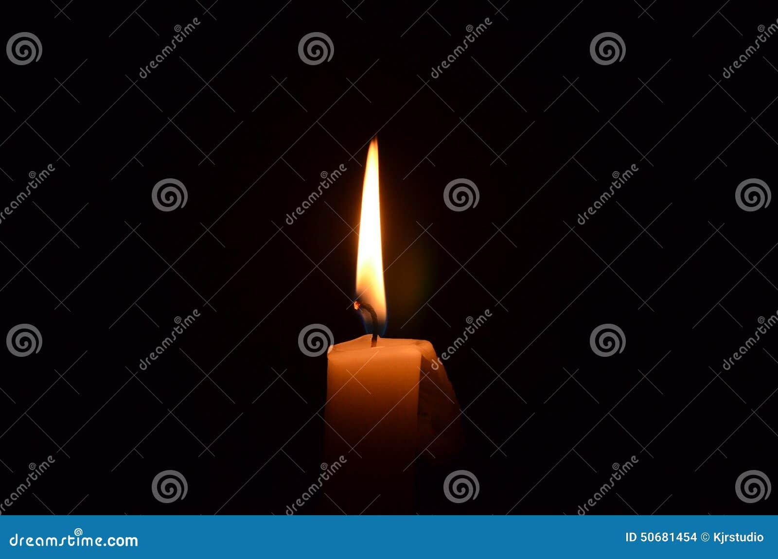 Enkel flamma för bakgrundsblackstearinljus