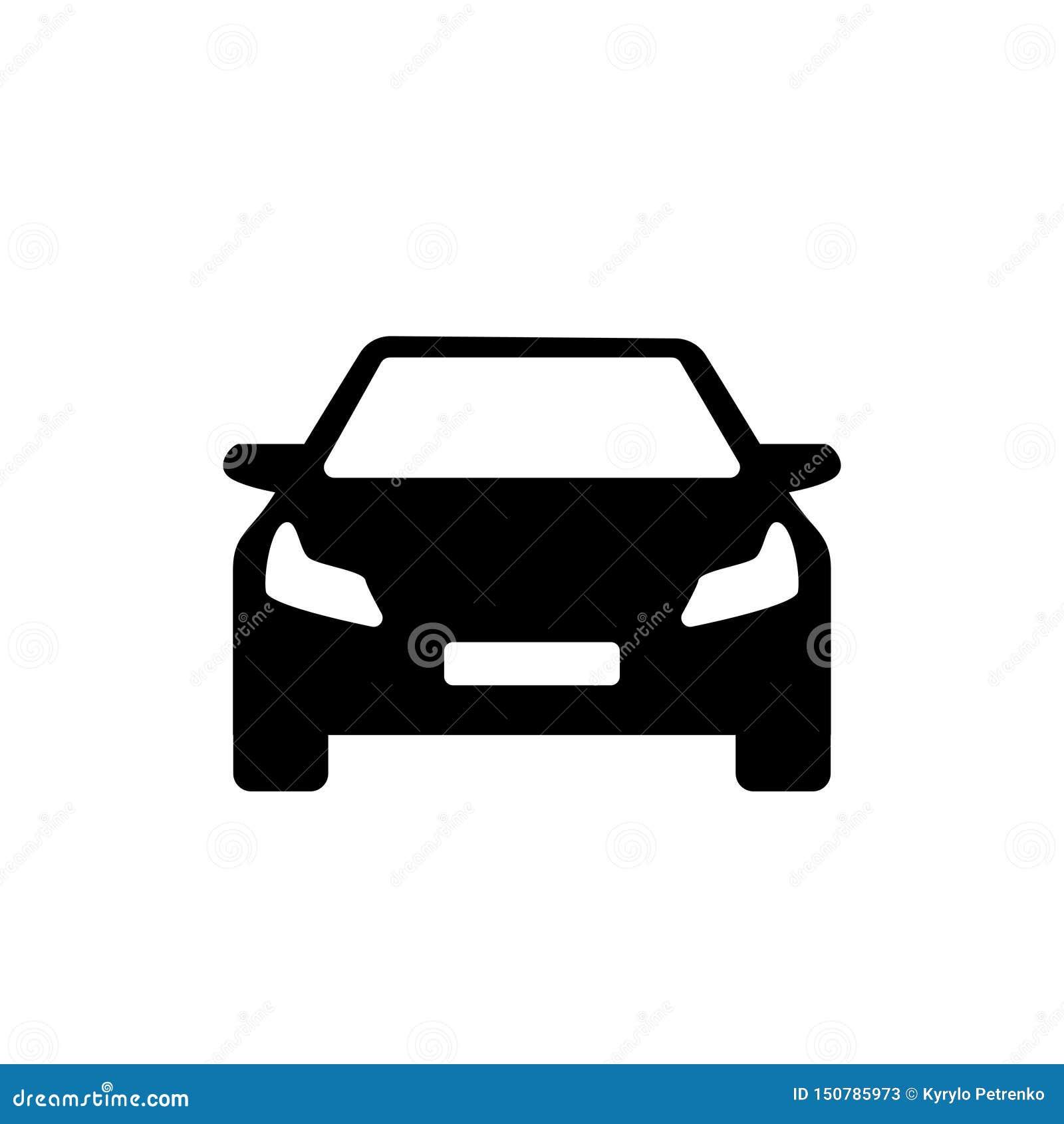 Enkel logo för svartvit modern bil