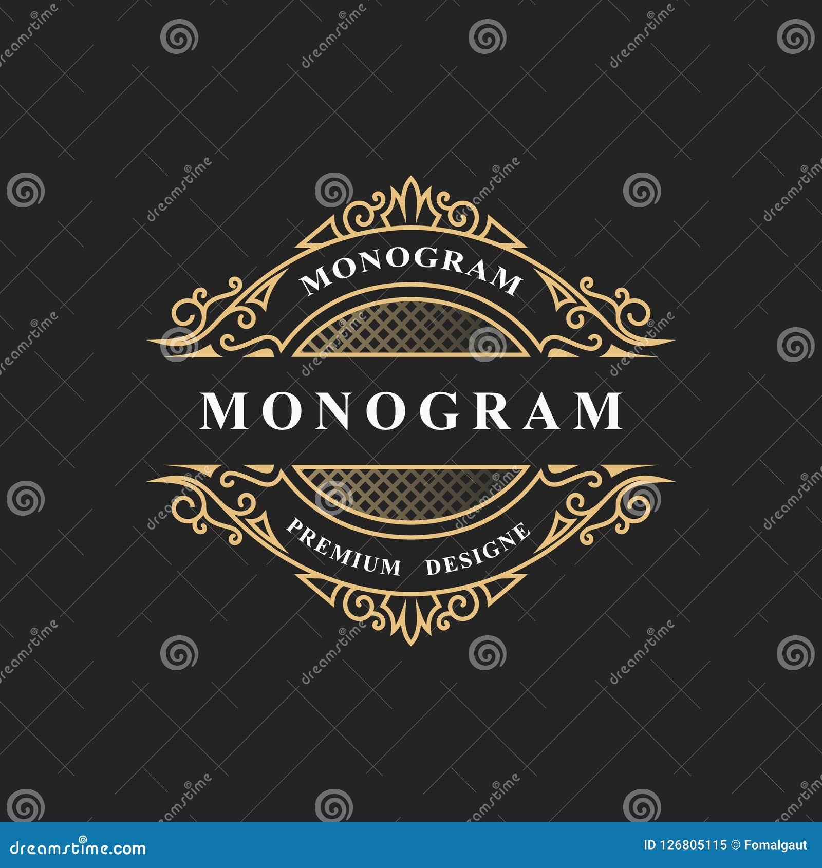 Enkel monogramdesign Lyxig volymetrisk logomall 3d linje prydnad Elegant ram för affärstecknet, emblem, vapen, etikett, B