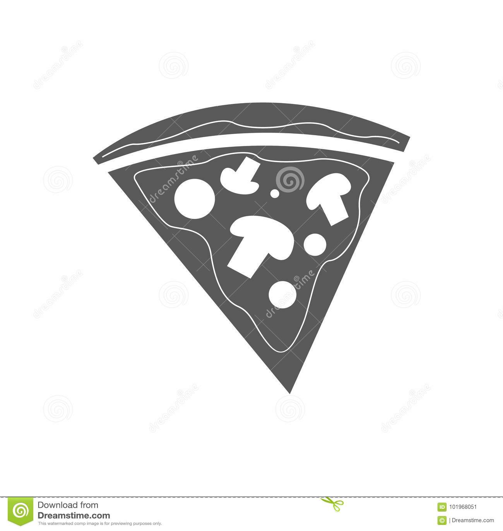 Enkel pizzasymbolsvektor