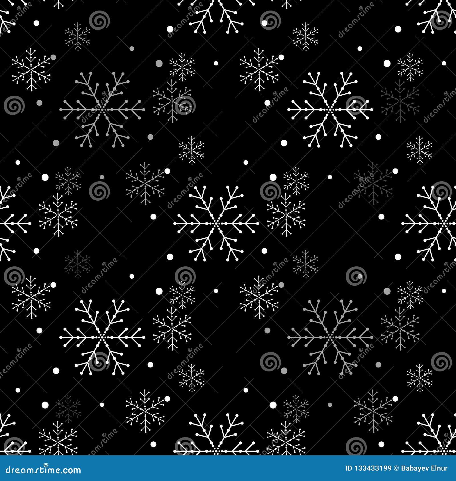 Enkel sömlös modell för snöflinga Abstrakt tapet som slår in garnering Symbol av vintern, ferie för glad jul