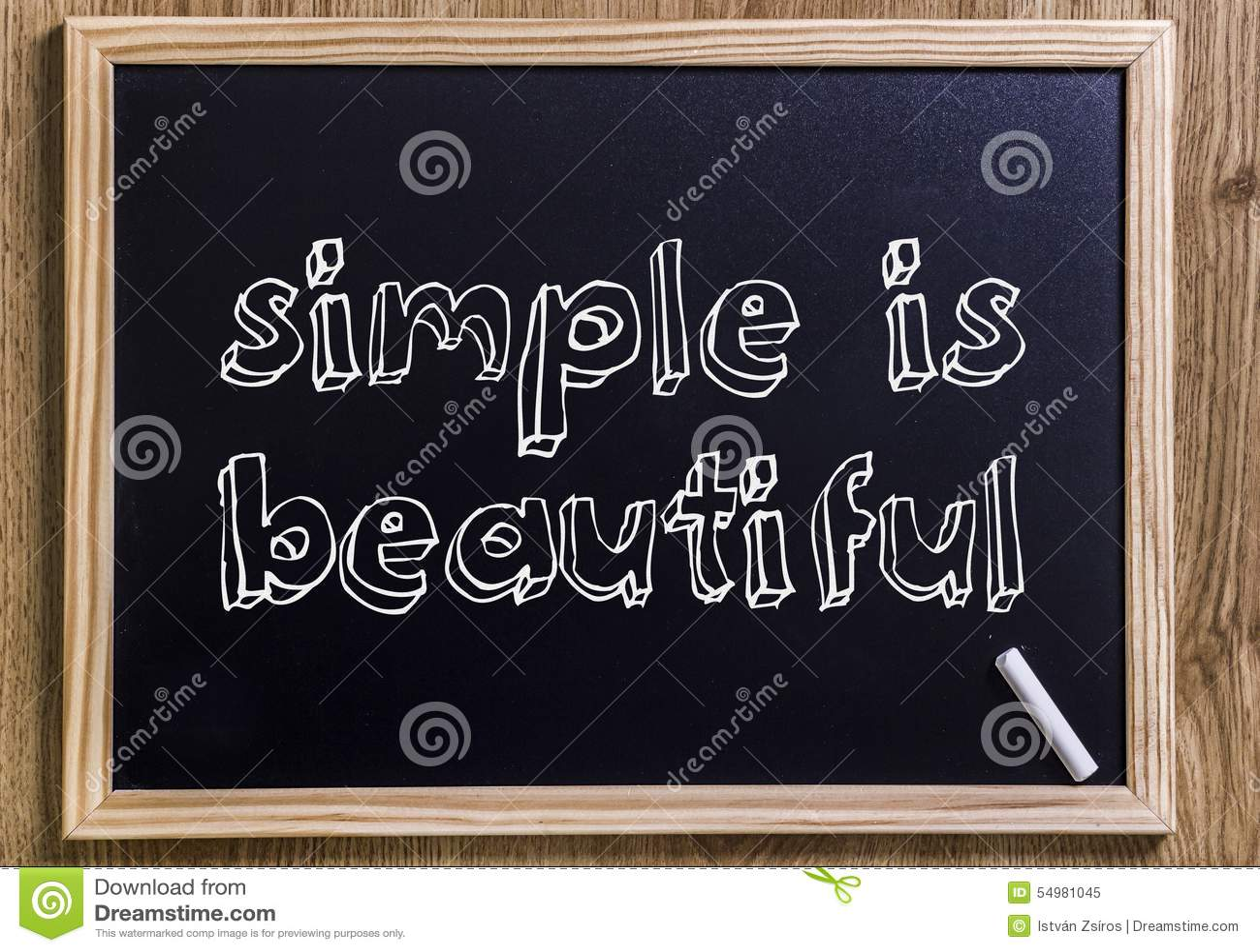 Enkelt är härligt