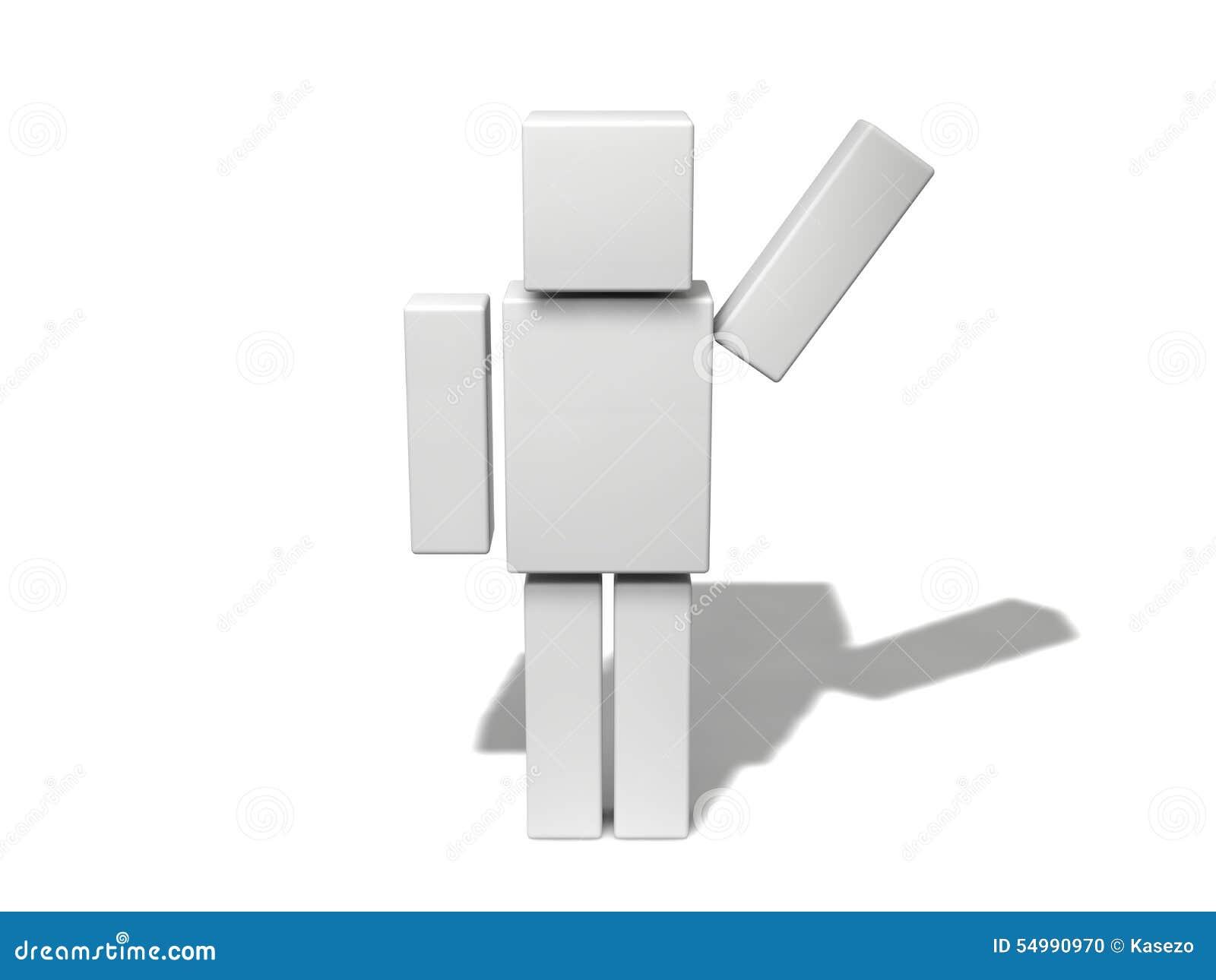 Enkelt kubiktecken 3d