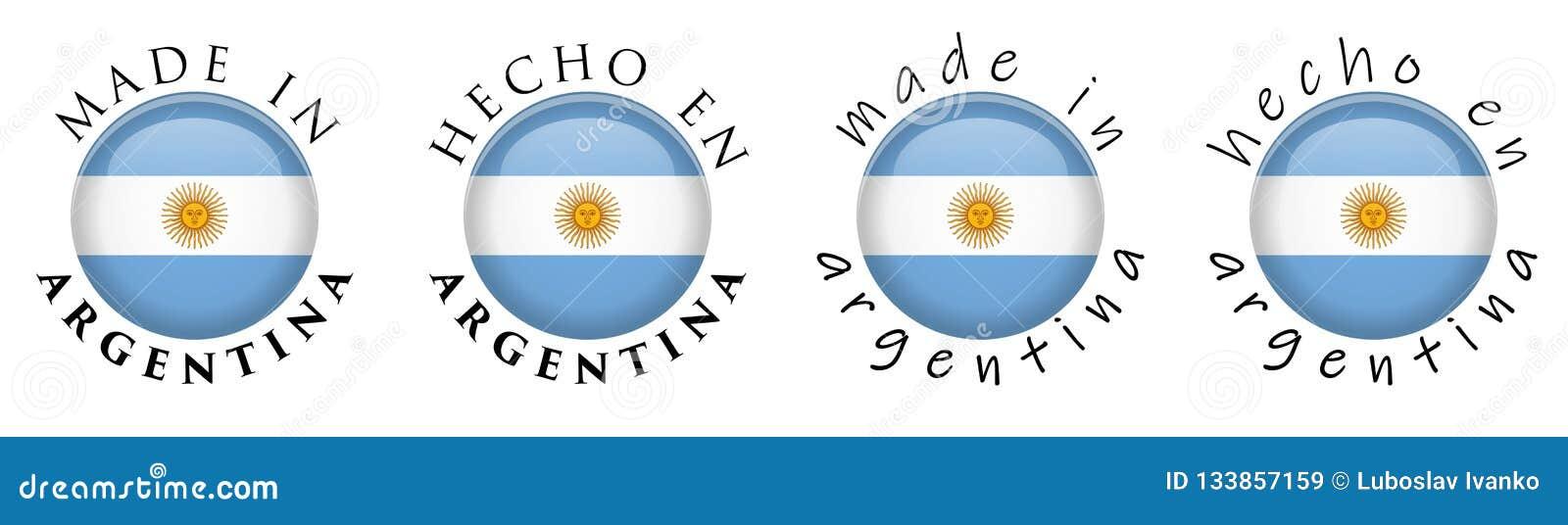 Enkelt som göras i Argentina/spanskt knapptecken för översättning 3D T