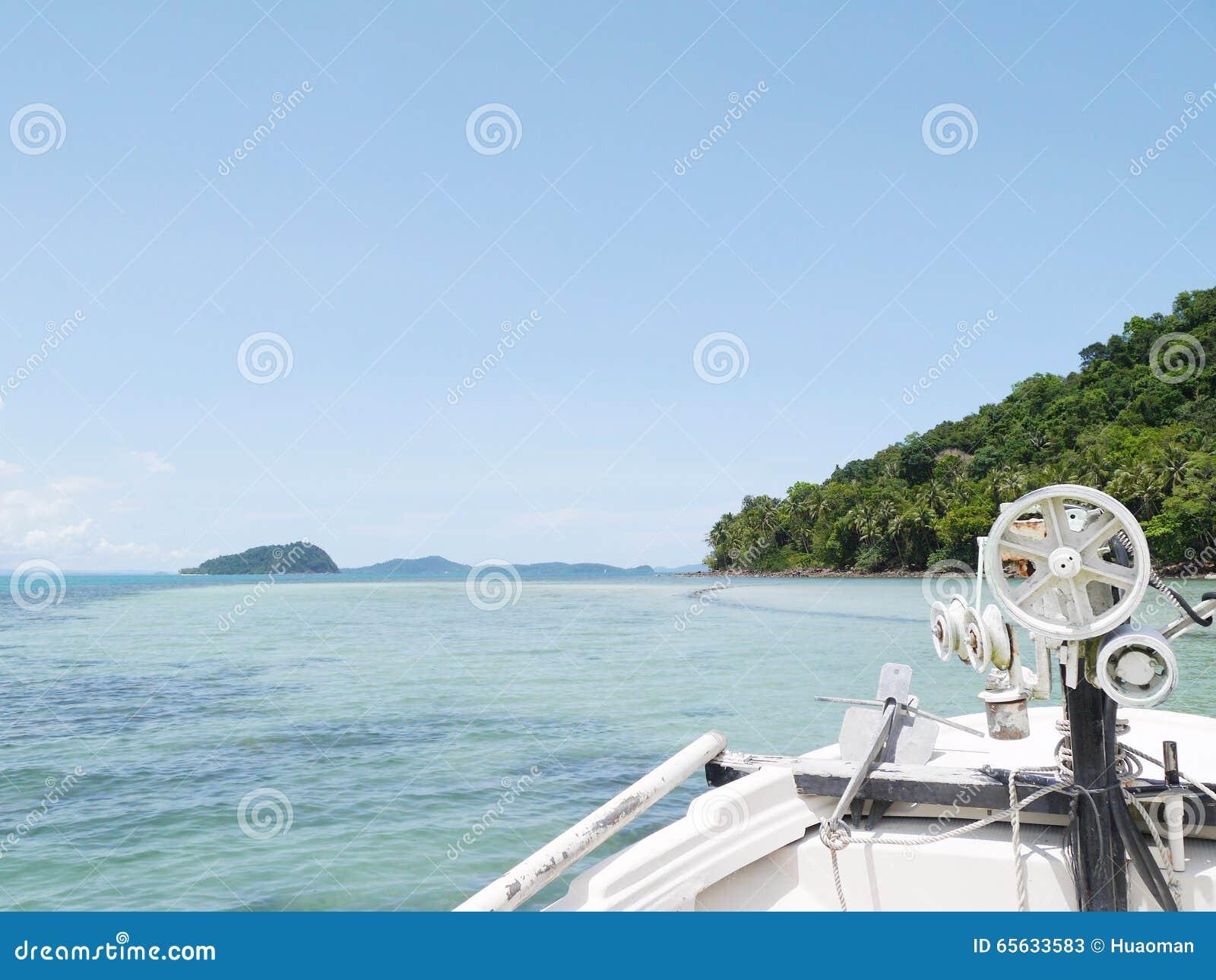 Enlevez le bateau au ciel Koh Chang, Thaïlande