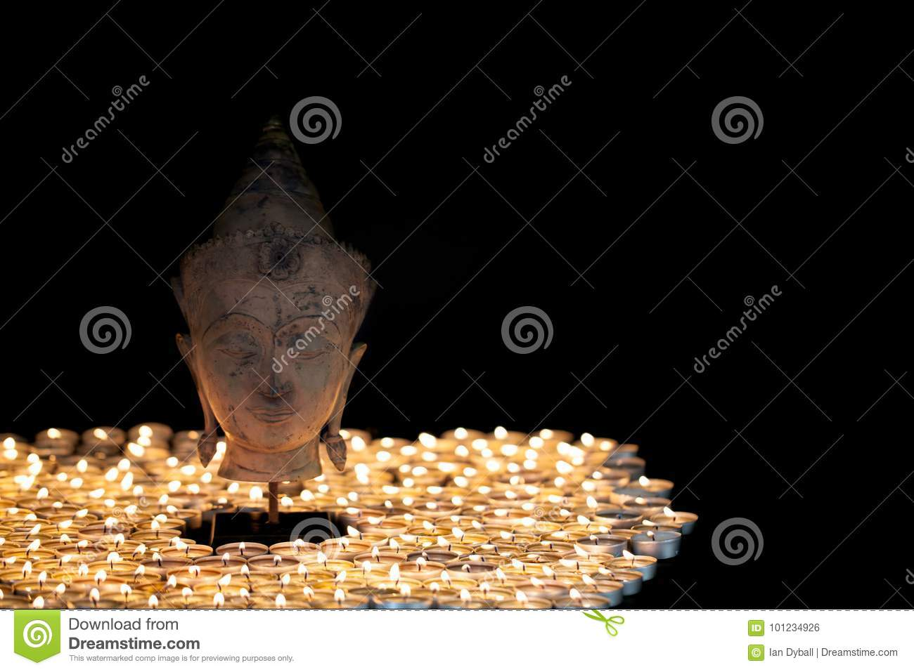 Enlightenment  Spiritual Image Of Serene Buddha Head