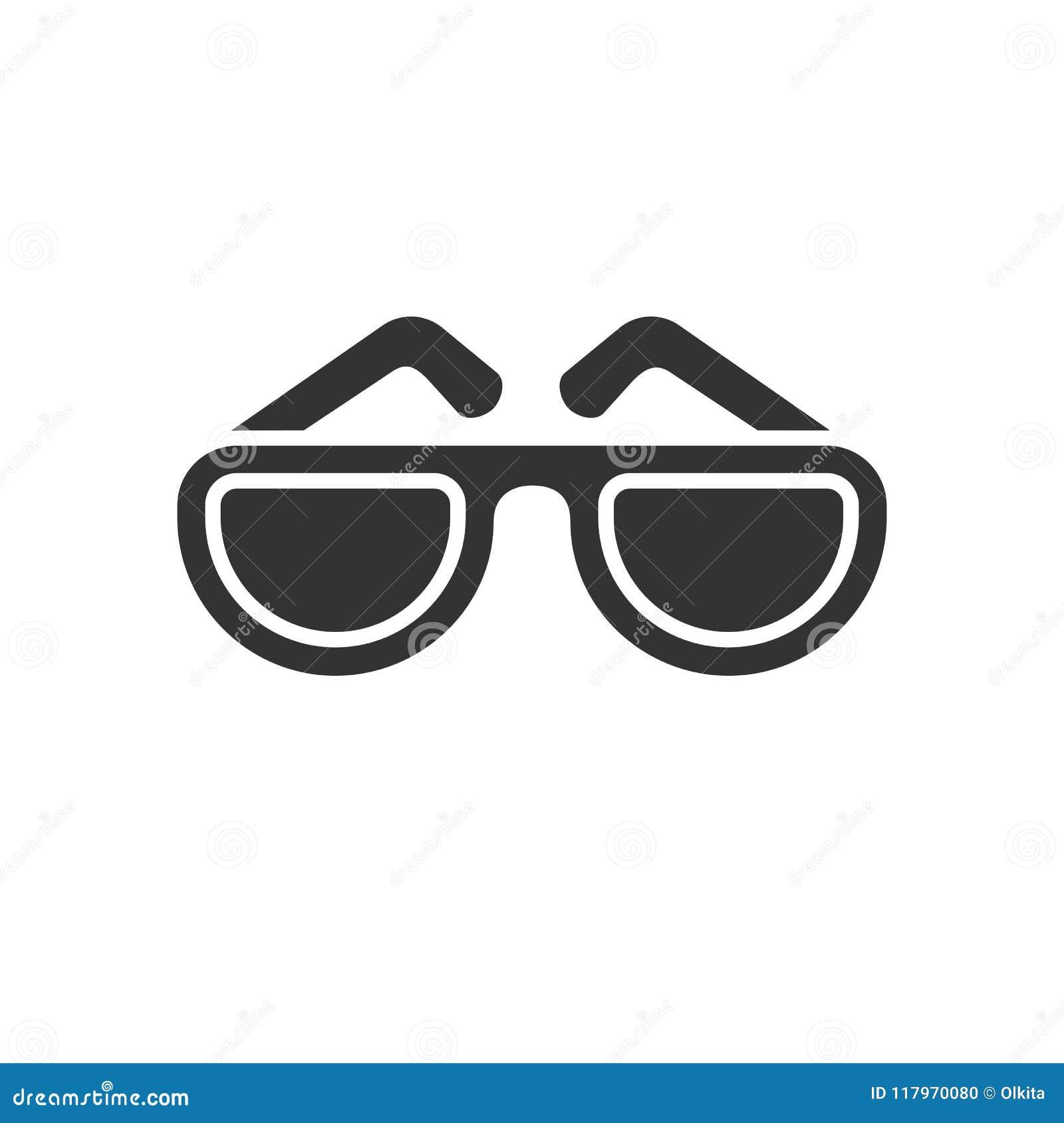 Fondo Aislado Blanco El De Ennegrezca Gafas Icono Sol En iOPTlwkuZX