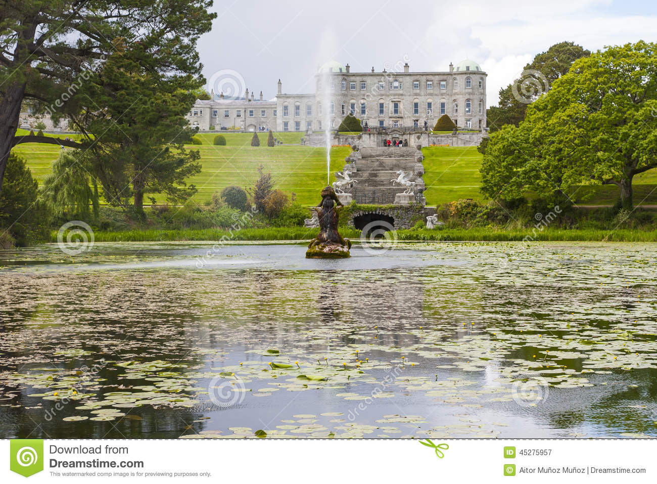 Enniskerry ireland may 5 triton lake at powerscourt - Free garden plans ireland ...