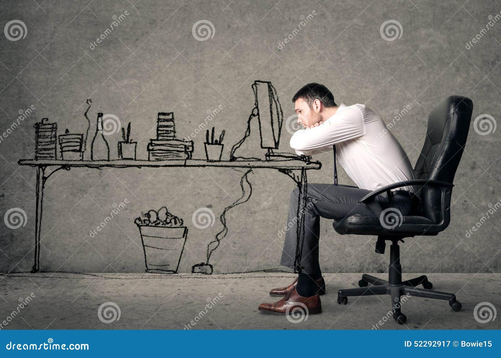 ennui de travail image stock image du al s travail 52292917. Black Bedroom Furniture Sets. Home Design Ideas