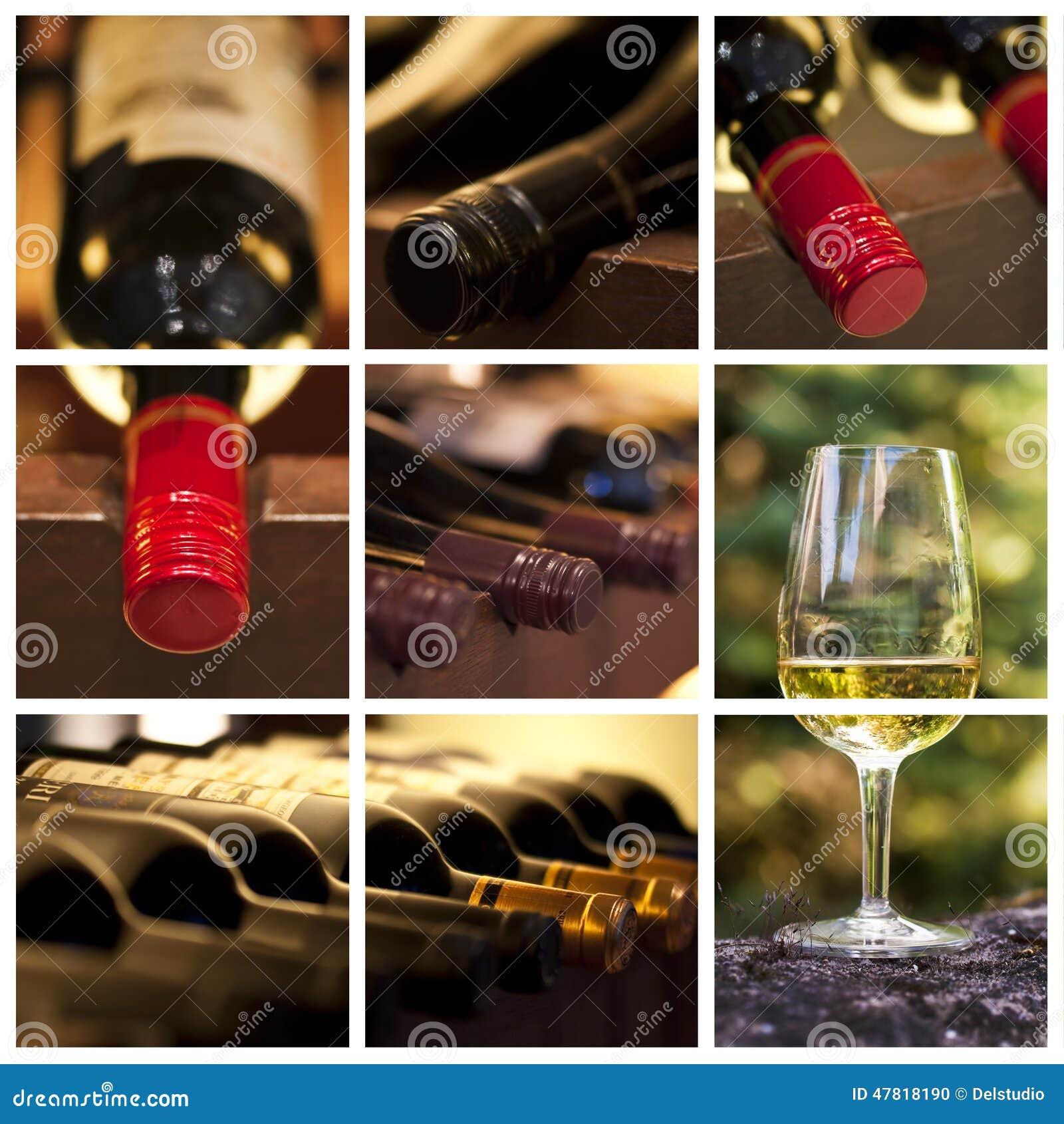 Enología y collage del vino