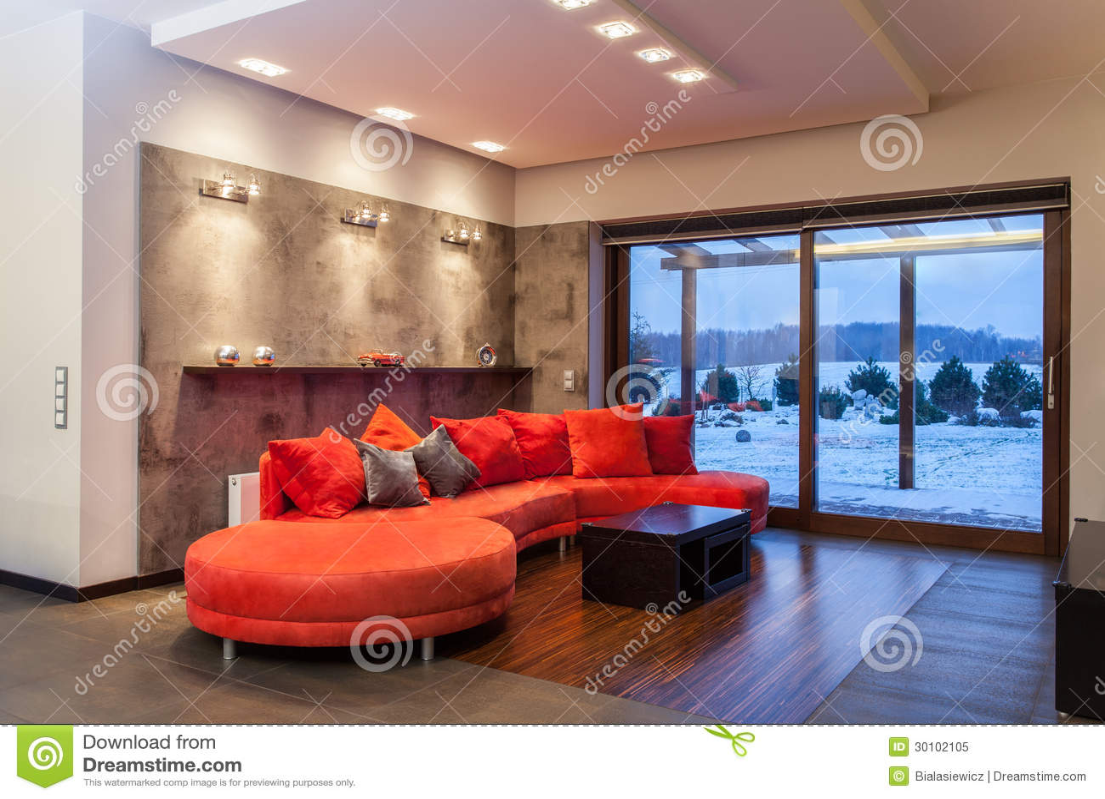 Rubyhus - röd sofa