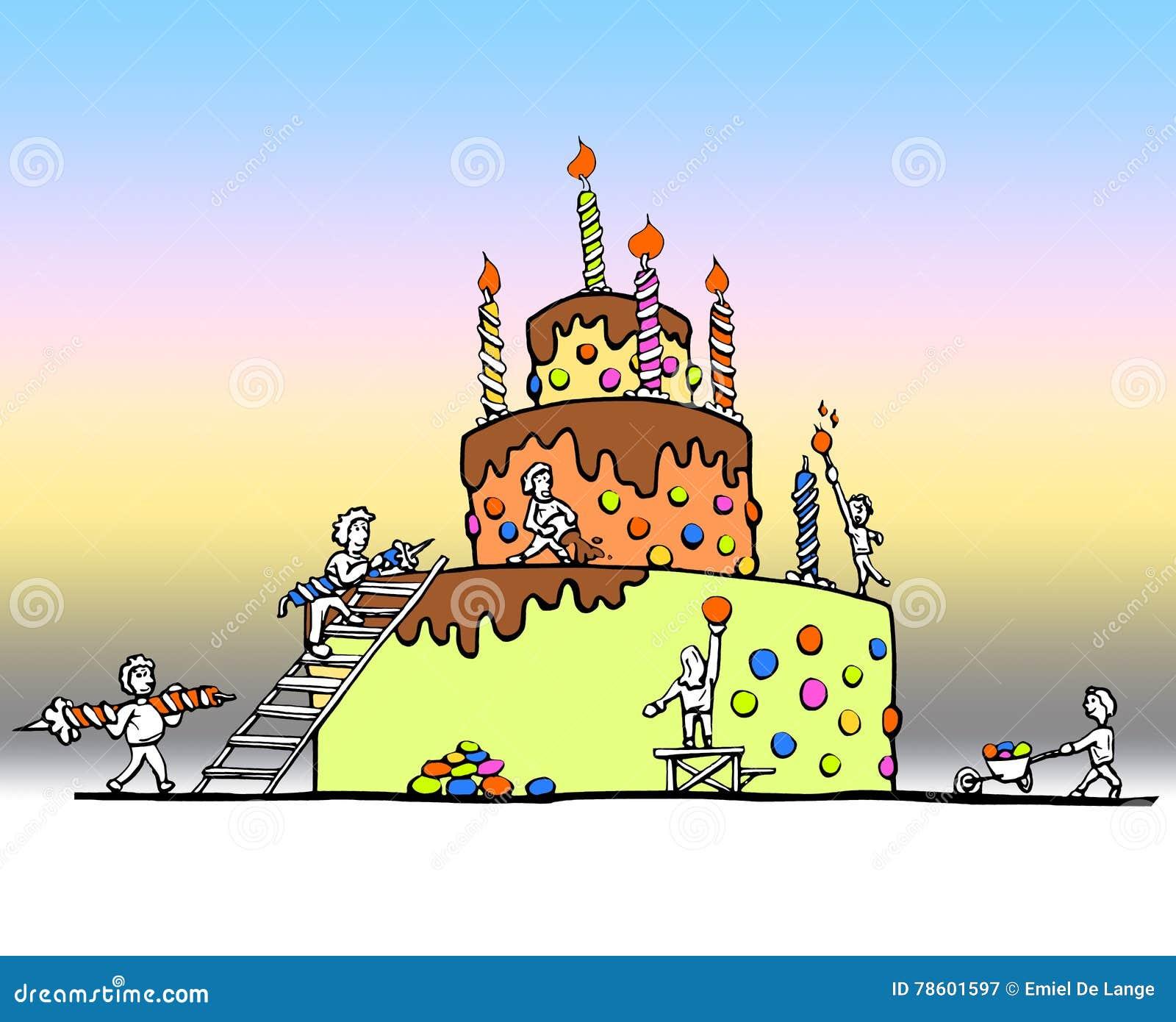Superb Enormous Birthday Cake Stock Illustration Illustration Of Personalised Birthday Cards Vishlily Jamesorg