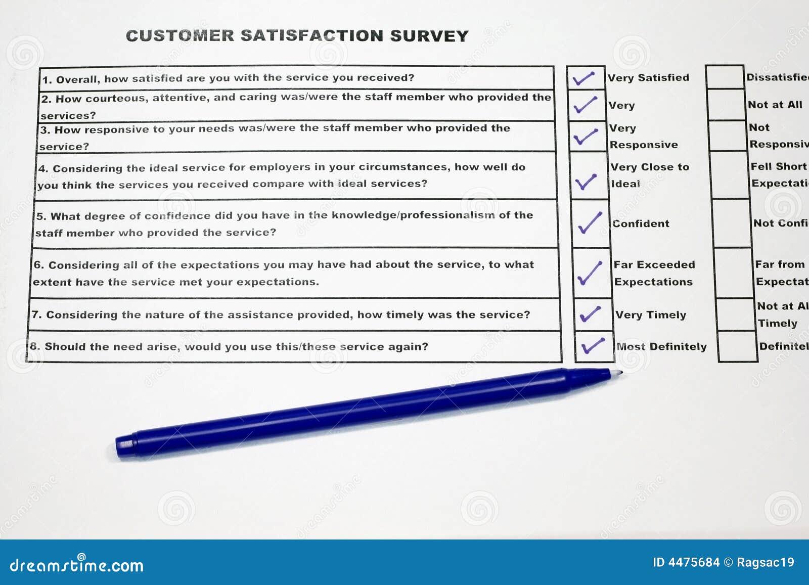 Top Enquête De Satisfaction Du Client Images stock - Image: 4475684 NY66