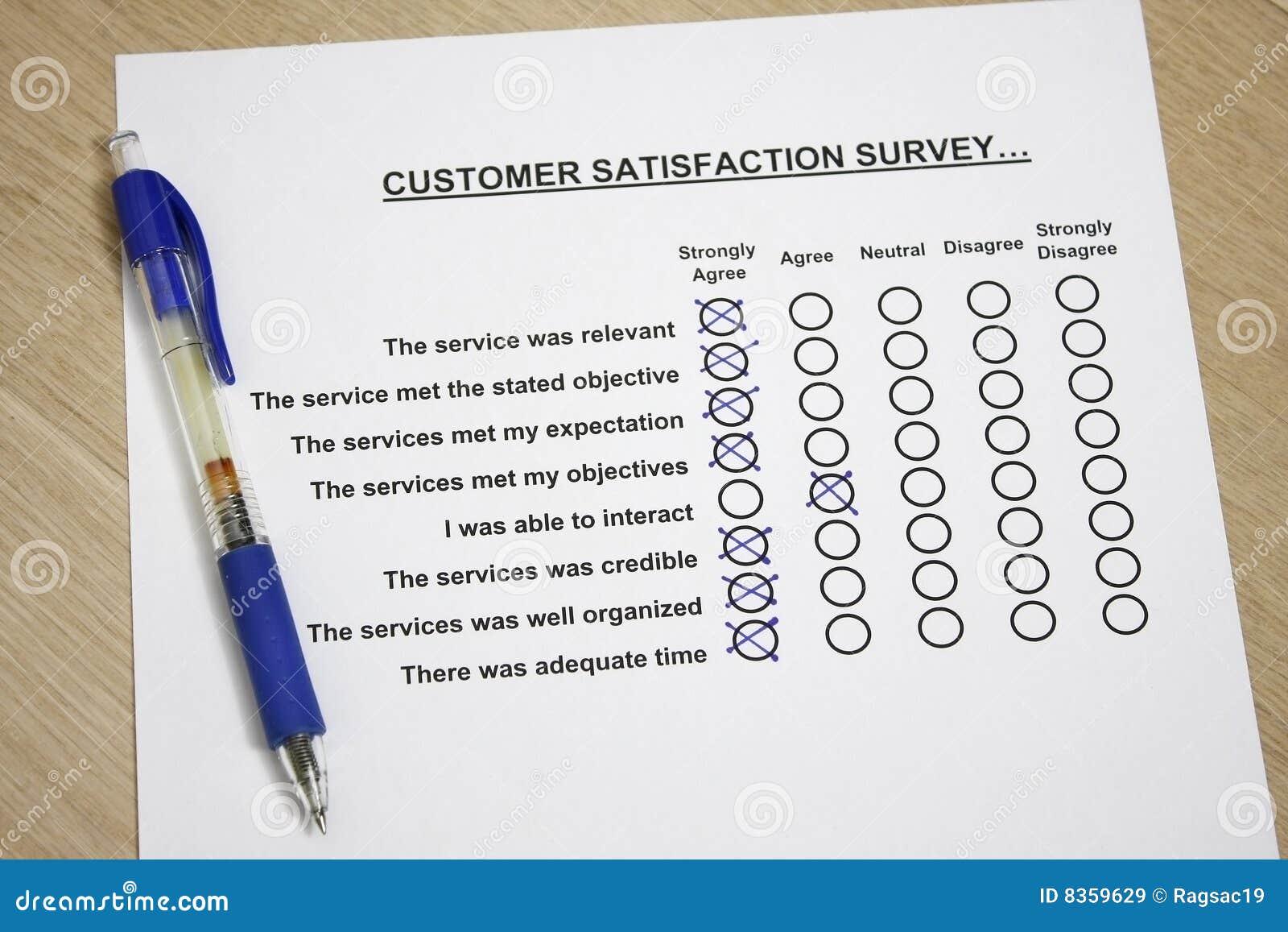 Enquête de satisfaction du client