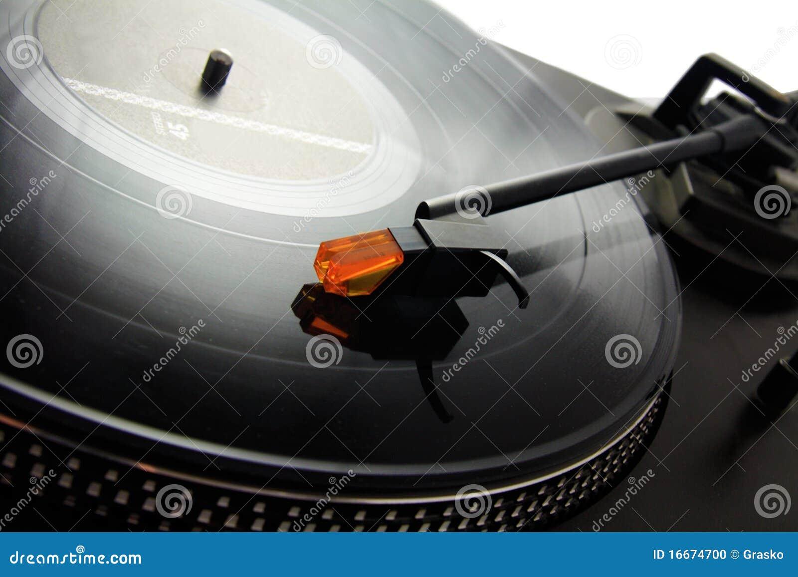 Enregistrement de plaque tournante et de vinyle