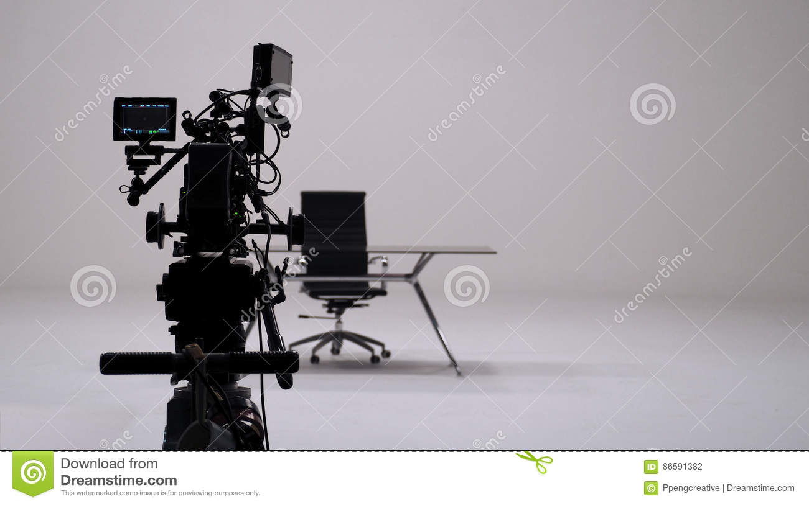 Enregistrement de publicité télévisée et ensemble d appareil-photo de film
