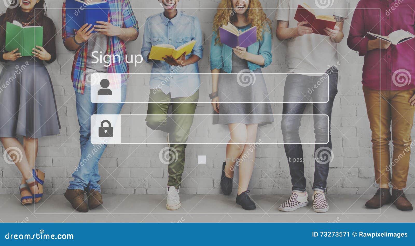 Enregistrez-vous le concept de sécurité de réseau d Access d adhésion d identifiez-vous