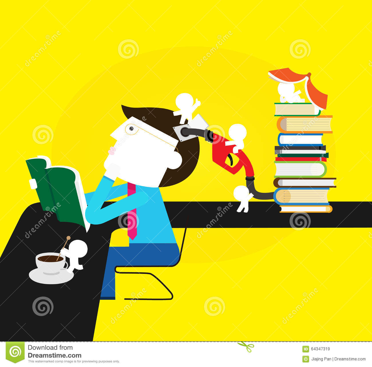 Enrich Your Knowledge Stock Illustration - Image: 64347319