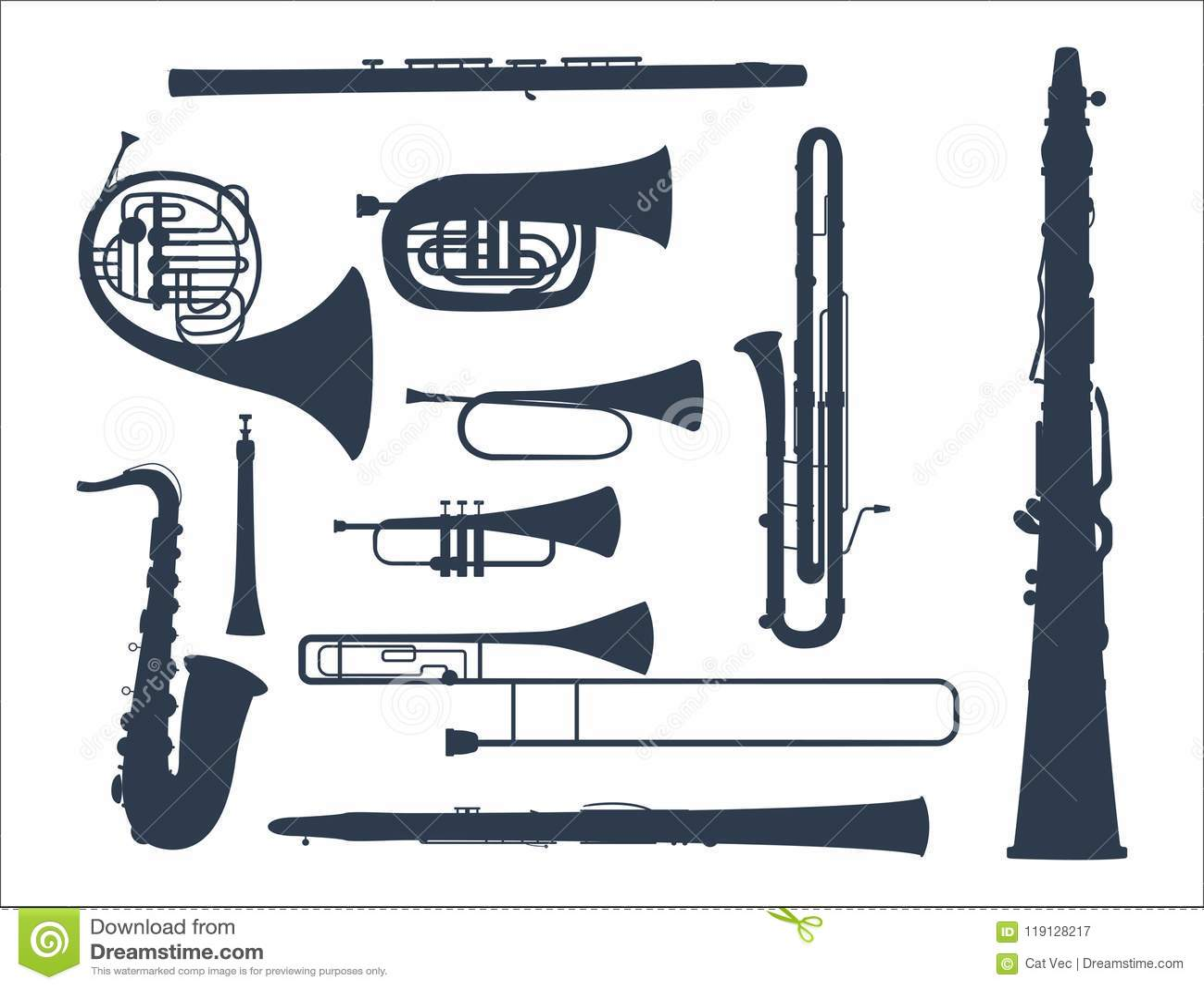 Enrole a ilustração acústica do vetor da orquestra do equipamento do músico das ferramentas dos instrumentos musicais