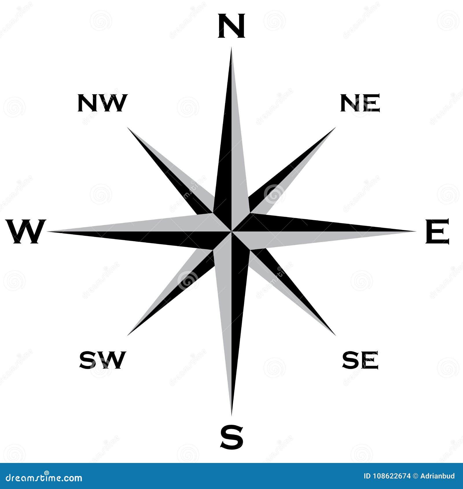 Enroulez le grai de Rose Cardinal Points Star et le grand dossier noir d ENV