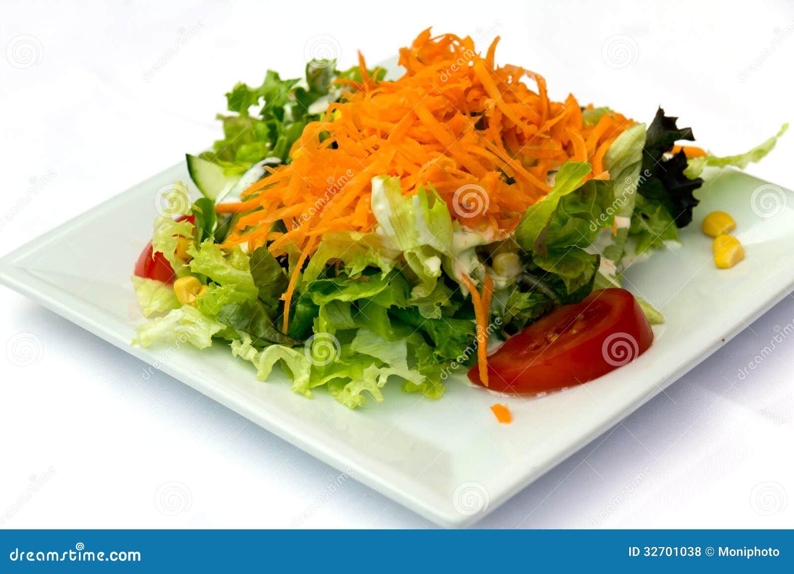 Ensalada con el tomate la lechuga y la zanahoria foto de - Ensalada de zanahorias ...