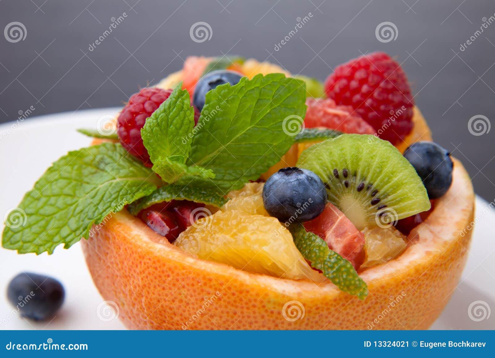 Ensalada de la baya de la fruta cítrica de la fruta