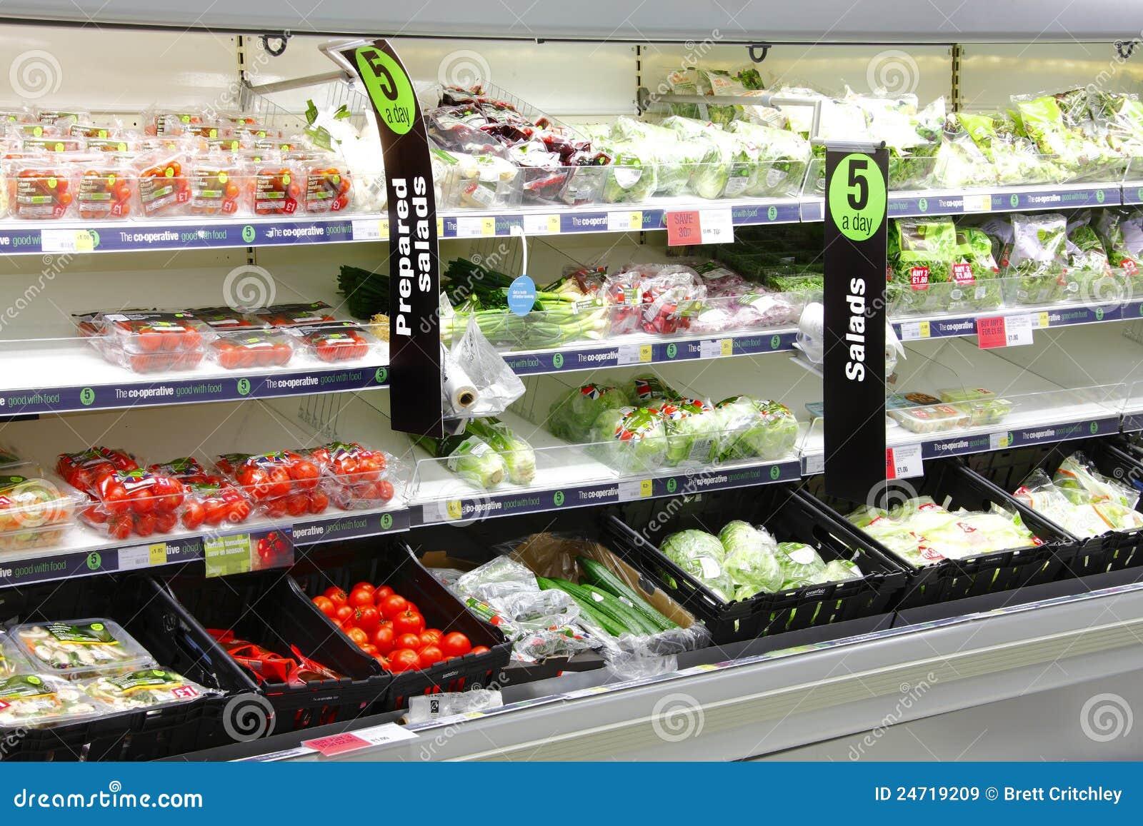 Ensalada y verduras frescas