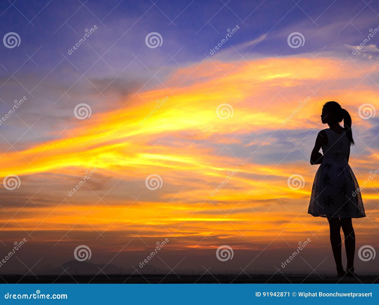 Ensam kvinna på taket