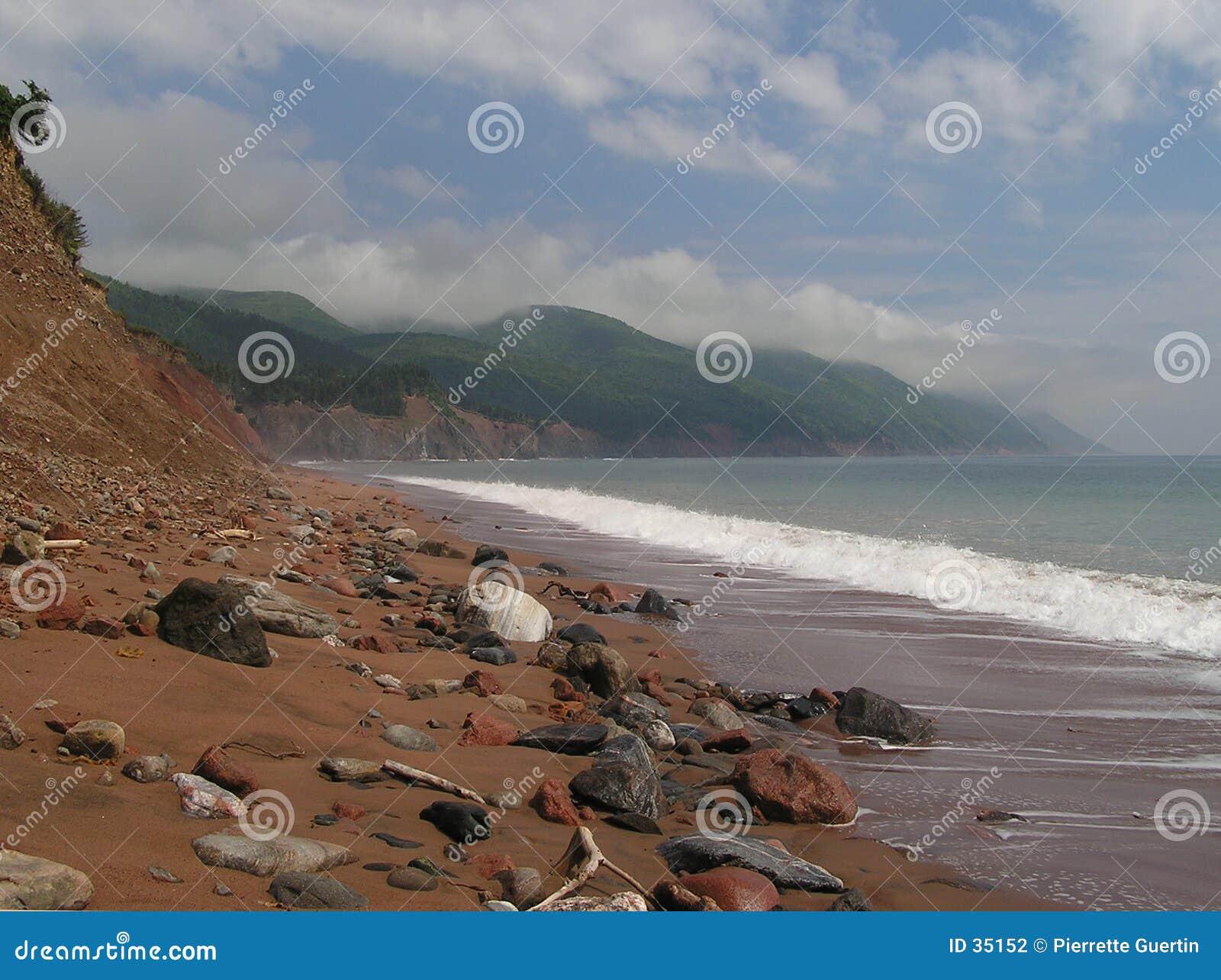 Ensam strand