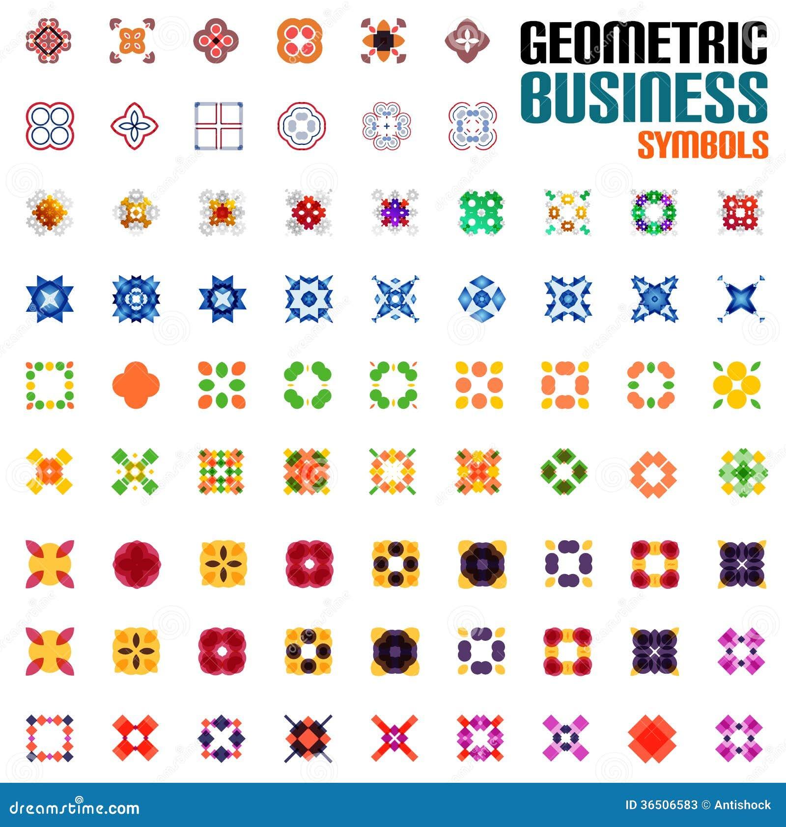 Ensemble énorme de symboles d affaires - formes géométriques